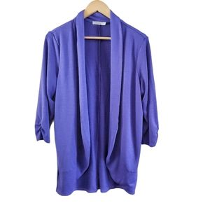 Ricki's Open Front Shawl Cardigan 3/4 Sleeves XL